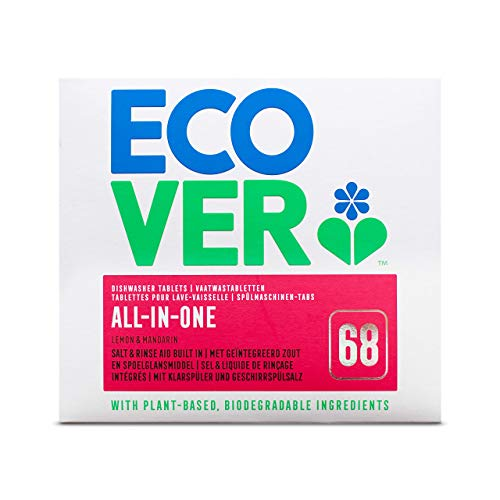 Ecover 285452 Spülmaschinen Tabs All-in-One Zitrone, 1,4 kg, EN/NL/FR/DE, VOC 0,09%