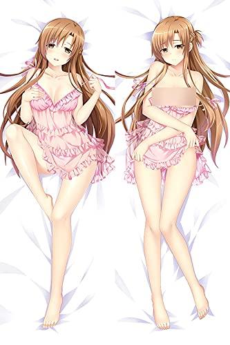 Totots Yuuki Asuna Anime Funda de almohada de longitud completa, Arte de la espada en línea Funda de almohada decorativa, Y □ Caso de almohada larga de Ki Asuna, Funda de almohada de impresión digital