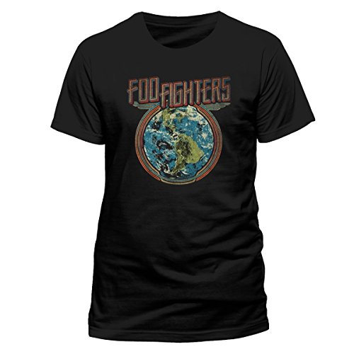 Cid Foo Fighters - Globe T-Shirt Homme Multicolore FR : XL (Taille Fabricant : XL)