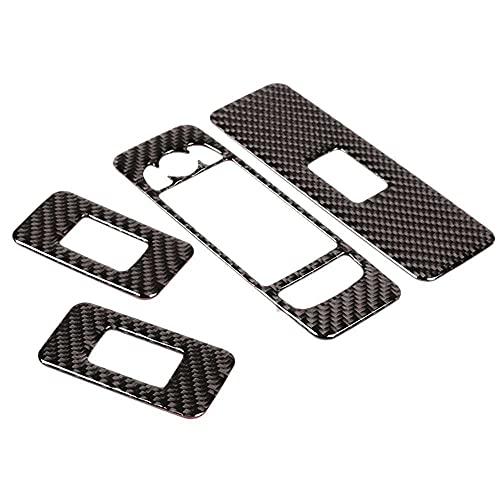 SAXTZDS Cubierta del Panel del Interruptor de elevación de la Ventana de la Puerta del ABS de Fibra de Carbono del Coche, Apta para Land Rover Discovery Sport 2015-2019