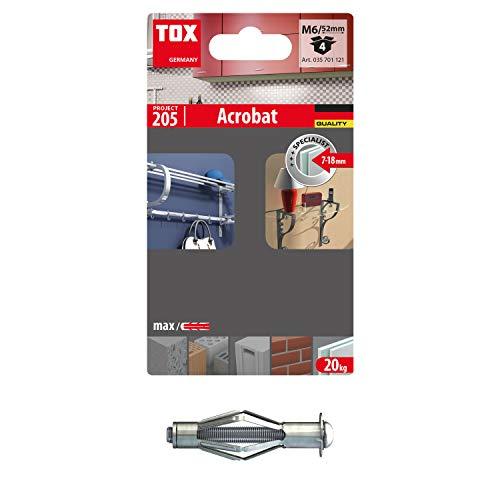 TOX 35701121 Acrobat Metall-Hohlraumdübel, M6x52 mm, 4 Stück