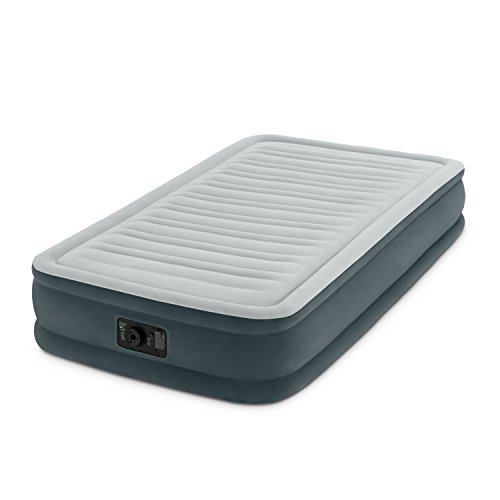 """Intex Comfort Plush Mid Rise Dura-Beam Airbed with Built-in Electric Pump, Bed Height 13"""", Twin"""