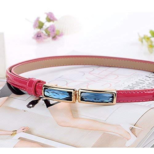 HaiDean Cinturón De Cuero Fino Agua Con Modernas Casual Bordes Perforación Moda Falda Cinturón De Cintura Decorativo Elegante Elegante Exquisito Cinturón De Cuero De Imitación Cinturón De Las
