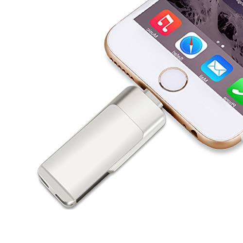 WANGOFUN Externe Opslag voor Iphone USB Flash Drive Memory Stick 3 in 1 Foto Stick USB3.0 Thumb Drive Compatibel Ipad Ios Android Computer