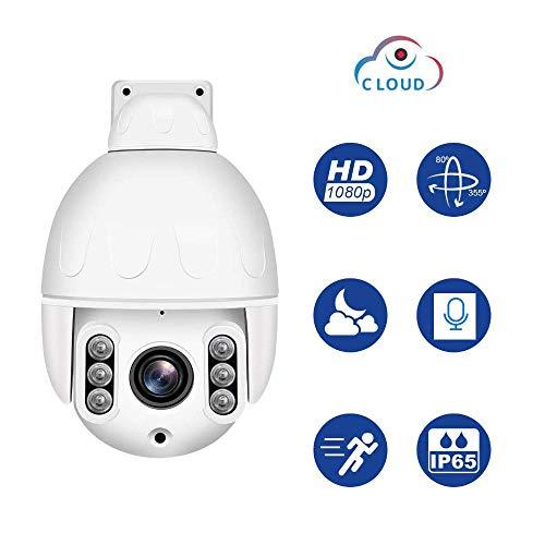 Navigatie wifi-camera, waterdichte all-metalen bewakingscamera met nachtzicht, 2-weg audio en bewegingsdetectie