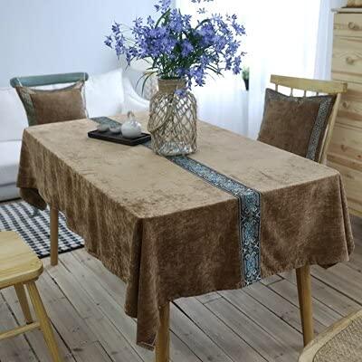XXDD Mantel de Boda, Marco de Silla, Mantel de Lino de Encaje Decorativo, Mantel Rectangular, Mantel Bordado A3 150x210cm