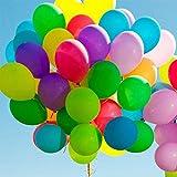 Vohoney Globos multicolor 100 unidades, globos de helio, globos de látex premium para bodas y cumpleaños, graduación, Navidad, regalos de novia, baby shower, día de San Valentín