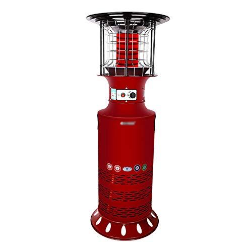 xinxinchaoshi Calefactor Portátil Terraza Calentador Licuado Gas Gas Vertical Patio Estufa de calefacción rápida Ventilador Calefactor