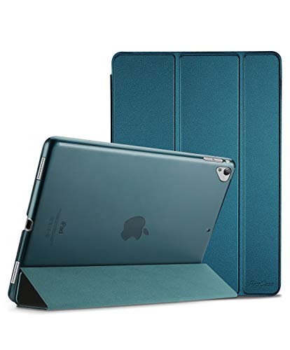 ProCase iPad Pro 12.9 Inch 2017/2015 Case Cover (Old Model, 1st and 2nd Generation), Ultra Slim Lightweight Stand Smart Case, with Translucent Frosted Back Cover –Teal