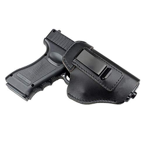 Gexgune Funda de Caza Funda de Pistola de Cuero para Glock 17 19 21 23 26 Beretta 92 Sig Sauer P226 SP2022 táctico Oculto IWB (Negro)