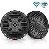 6.5 Inch Marine Speakers (Pair) - 2-Way IP-X4 Waterproof and Weather Resistant Outdoor