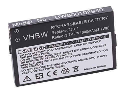 vhbw Li-Ion Akku 1000mAh (3.7V) kompatibel mit Handy, Handy, Swissvoice MP01, MaxCom MM550BB, Binatone BB100, BB100 Plus, B200, BB200, Speakeasy, u.a Ersatz für TJB-1