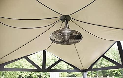 allen + roth Valdosta 20-in Brushed Nickel Indoor/Outdoor Ceiling Fan (3-Blade)