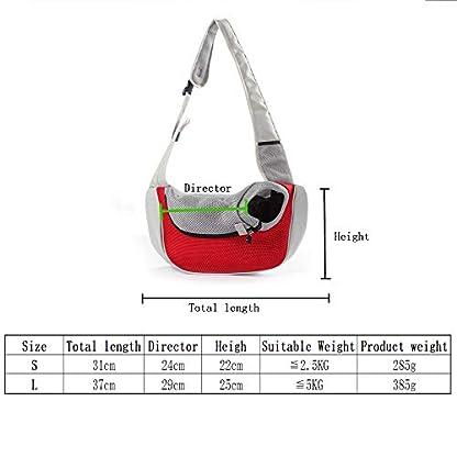 PETEMOO Pet Sling Carrier Bag, Hand-Free Dog Cat Outdoor Travel Shoulder Bag with Adjustable Strap& Zipper 2