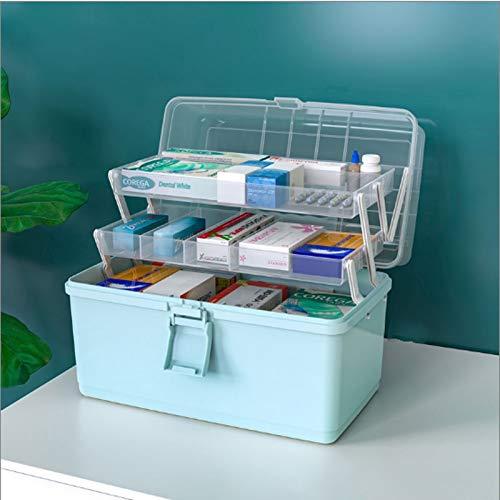 EHBO doos Medicine Box Huishoudelijke Medicine Box Geneeskunde Medisch Storage Box Multilayer grote capaciteit Portable Medicine Box Medicijnkastje (Color : B)