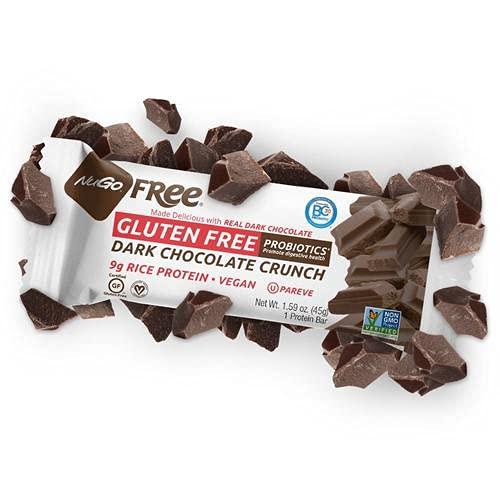 Nugo Nutrition Bar - Gluten Free Dark Chocolate Crunch - Case of 12 - 45 Grams