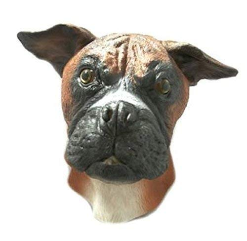 The Rubber Plantation TM 619219293495 Masque en latex tête complète - Chien Boxer - Accessoire de costume, unisexe, adulte, taille unique