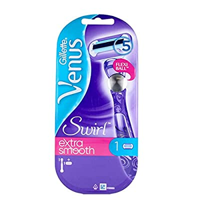 Venus Gillette Extra Smooth Swirl Razor for Women with Flexiball Technology (Packaging May Vary)