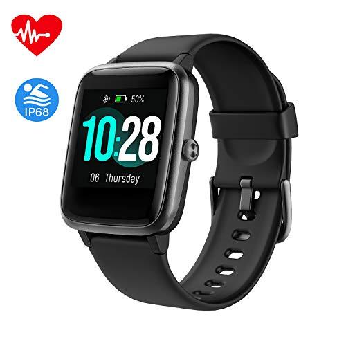 Smartwatch, Fitness Armband Tracker Voller Touch Screen IP68 Wasserdicht Fitness Uhr Aktivitätstracker mit Pulsuhren Schrittzähler Uhr, GPS Armbanduhr Sportuhr für Damen Kinder Sportuhr iOS Android