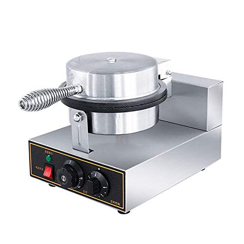 Electric Ice Cream Cone Waffle Maker Machine 1200W Stainless Steel Nonstick Surface for Commercial Home Use (Electric Ice Cream Cone Waffle Maker Machine)