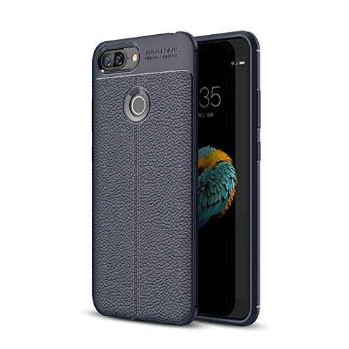 ZTH For Lenovo S5 Litchi Texture Soft TPU Protective Back Cover Case (Black) (Color : Navy Blue)