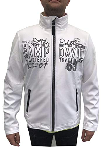 Camp David Softshelljacke mit Stehkragen Übergangsjacke Softshell CCU-1855-3545 M L XL XXL XXXL (XXL, opticwhite)