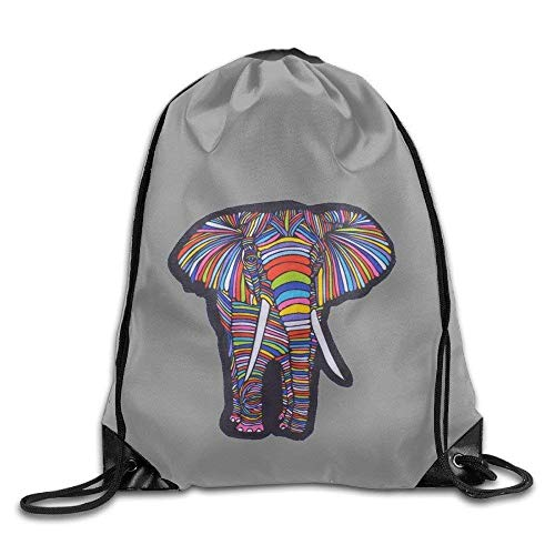 Just Life Multicolor Elephant.PNG Sport Gym Sack Mochila con cordón Bolsa Paquete de Boca de Haz A890
