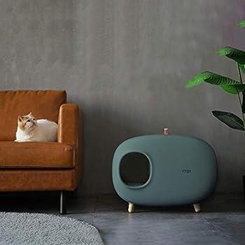 Makesure - Maison de toilette, litière pour chat, facile à nettoyer, matériau écologique, sécurisé