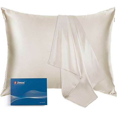 Natural Silk Pillowcase, for Hair and Skin with Hidden Zipper,22 Momme,600 Thread Count 100%...