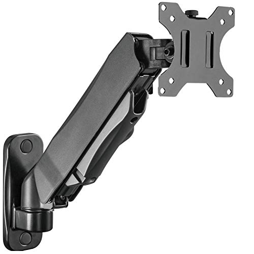 WALI Single LCD Monitor Gas Spring Wall Mount Fully Adjustable Fits 1...