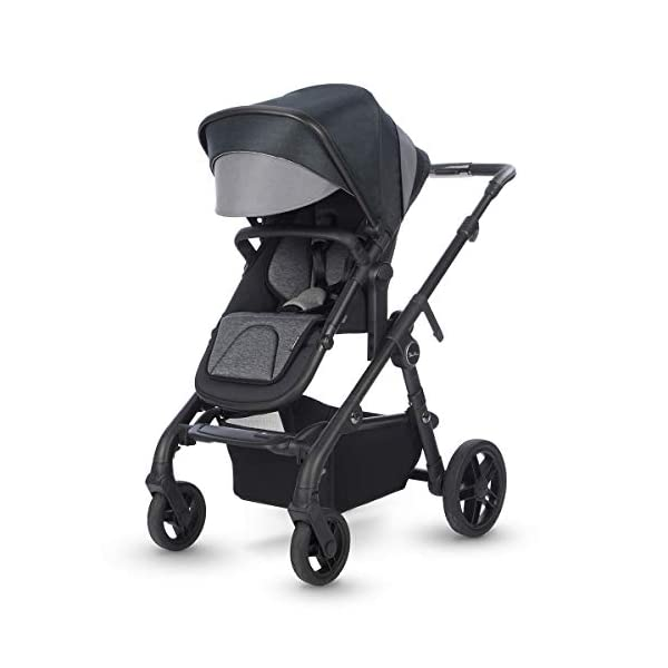 Silver Cross Coast Fully Adjustable 2-In-1 Baby Pram and Pushchair, Newborn to Toddler, With Accessories – Flint Silver Cross Newborn to toddler: Suitable from birth up to 6 months using the carrycot, and from 6 months to 25 kg with the pushchair seat attachment Strong and lightweight: Silver Cross high quality durable magnesium chassis weighs just 10.2kg, perfect for every trip, with 4-way independent wheel suspension and puncture proof tyres Compact: Quick and easy to fold down for transport and storage with a total of 27 clever configurations (Dimensions: L92-112 cm W60 cm H91-107 cm, folded: L94 cm W60 cm H34 cm) 3