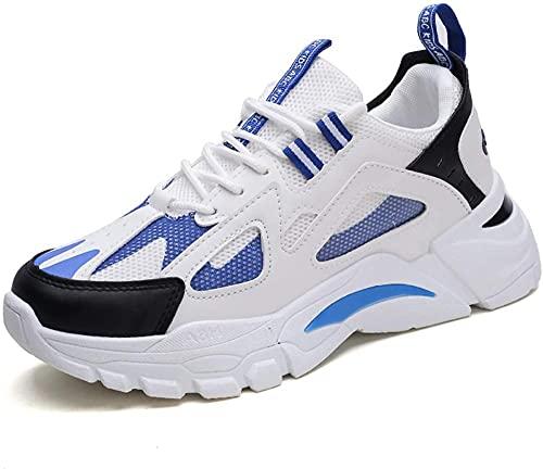 Entrenadores Hombres Zapatillas Zapatillas De Zapatillas Ligeras Limpiables Transpirables Sports Outdoor Deporte Zapatos Casual Entrenamiento Zapatillas-Blanco_42 i Improve