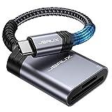USB C SDカードリーダー[2-in-1] JSAUX 高速メモリカードリーダライタ 2スロットカード同時読み書き可能 MacBookAir 、iPad Air/Pro 2020、Surface Book、Samsung S20など対応