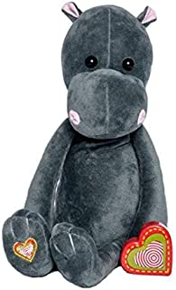 My Baby's Heartbeat Bear - Vintage Stuffed Hippo with a 20 Second Voice/Sound Recorder Keeps Your Baby's Ultrasound Heartbeat Safe! - Vintage Hippo