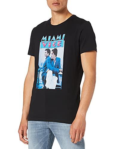 Q/S designed by - s.Oliver 2064142 T-Shirt, Stampa Nera, XL Uomo