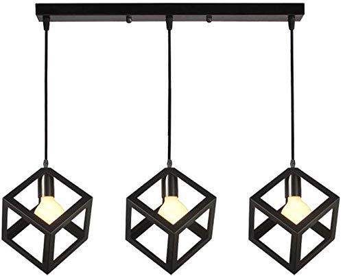 Smotly-kroonluchter, ouderwetse Edison-gloeilampverlichting met meerdere kernen, E27-industriële plafondlamp voor eetkamer/woonkamer/keuken/café, C1