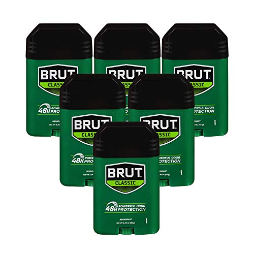 Brut Deodorant, 2.25 Ounces (Pack of 6)