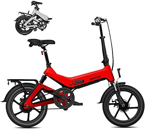 CASTOR Bicicleta electrica Bicicleta eléctrica, 16 Pulgadas 36V Ebike con batería de Litio 7.8AH, Bicicleta de la Ciudad Velocidad máxima 25 km/h, Freno de Disco