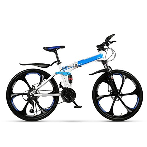 GHZ Folding Mountain Bike-Bicycle 27/30 Adult Bicycle Double Shock Absorption Portable Small Road Bike