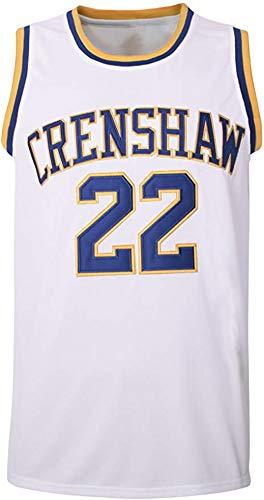 McCall #22 Wright #32 Crenshaw Basketball Trikot S-XXXL alle Buchstaben und Zahlen genäht S-XXXL weiß, 22#weiß, Medium
