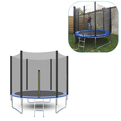 8 FT Kids Trampoline, Outdoor Large Recreational Trampolines with Enclosure Net and Spring Cover Padding, Home Family Play Gaming Toys, Best Gifts for Your Kids