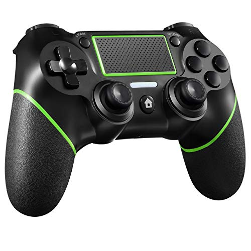 ORDA Wireless Controller Compatible with PS4, Wireless Gamepad for PC (7/8/8.1/10) with Audio Function, Mini LED Indicator and USB Cable