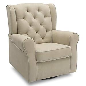 Delta Children Emerson Nursery Glider Swivel Rocker Chair, Creme