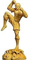 WQQDDP Statue アートワーク置物ボックスウッド彫刻スタティューキャラクターホーム装飾彫刻手芸の装飾品ブラインドモンクコレクション (Color : Default)