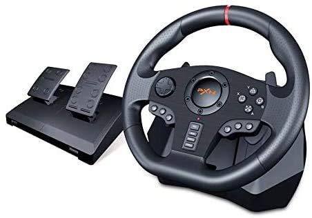 PC Racing Wheel, Universal USB 270/900 Degrés Course Au Volant avec Pédales pour PS3, PS4, X-One, Switch