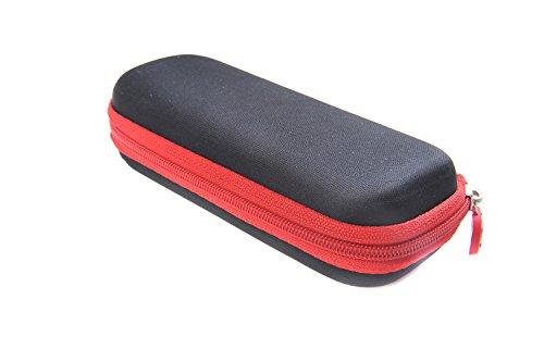 Ombrello compatto premium (dimensioni da chiuso 17 cm), struttura in alluminio (diametro 88cm), apertura e chiusura automatiche con pulsante, colore: rosso-nero, 0338-01 (DE)