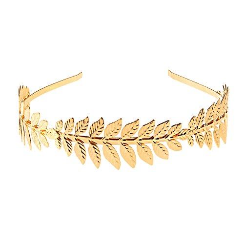 Merssavo Gold Laurel Hoop Blatt Stirnband Griechischen Kopfschmuck Römische Haarkrone Frauen