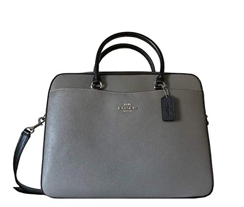 COACH Laptoptasche Signature, (Heather Grey Multi), Medium