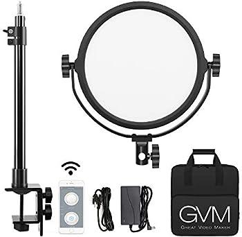 GVM Key Light 10.6-in Round Led Panel Desk Mount Video Lighting