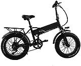 Vélos électriques, 48V 500W 20inch électrique pliant Fat Tire Bike 12ah amovible Batterie au lithium électrique Plage vélo professionnel 8 Vitesse adulte électrique Suspension Avant Ebike for tous les